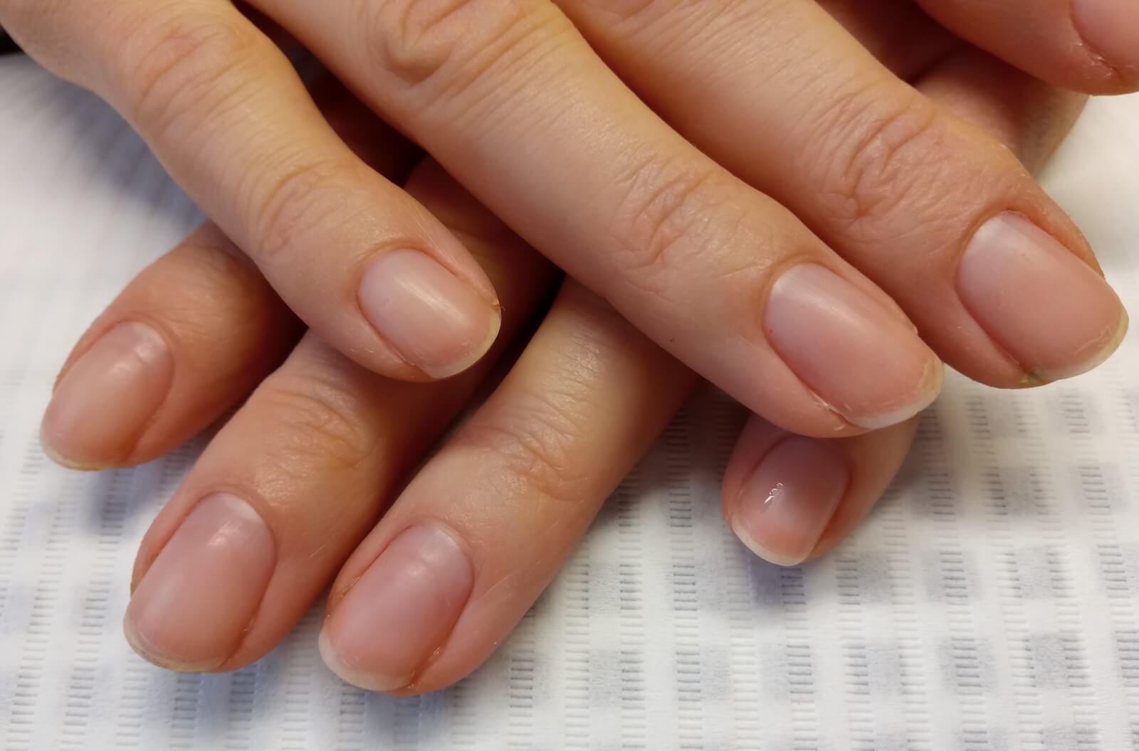 manicure japoński przed